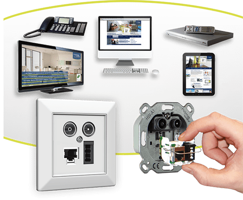 Multimedia Anwendungen mit Multimediadose und Hand