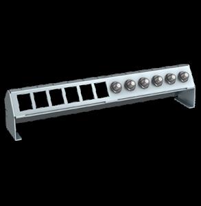 Verteilerfeldrahmen für 6 x Keystone-Modul + 6 x Koaxkupplungen