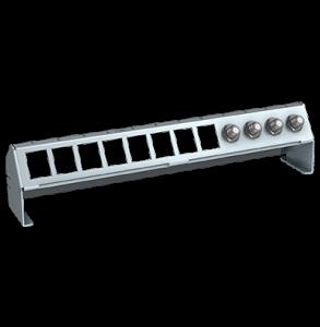 Verteilerfeldrahmen für 8 x Keystone-Modul + 6 x Koaxkupplungen