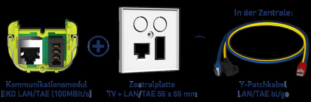 Konfiguration one. LAN/TAE