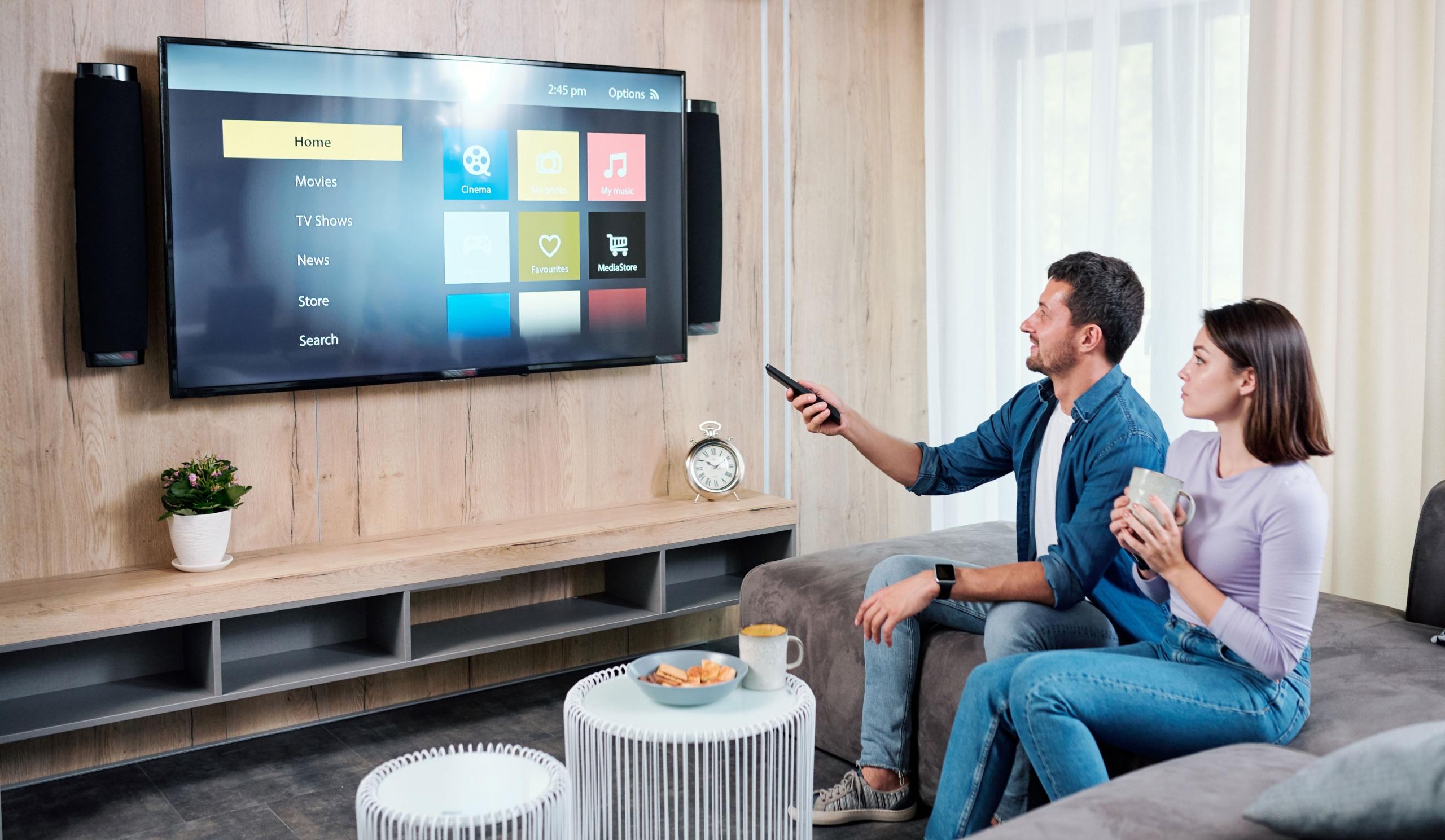 homeway Multimedia-Anwendung im Wohnzimmer