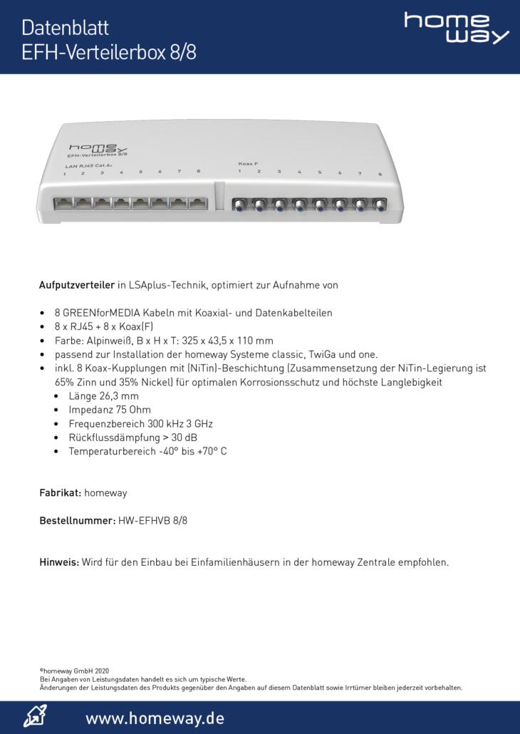 Datenblatt EFH8-8