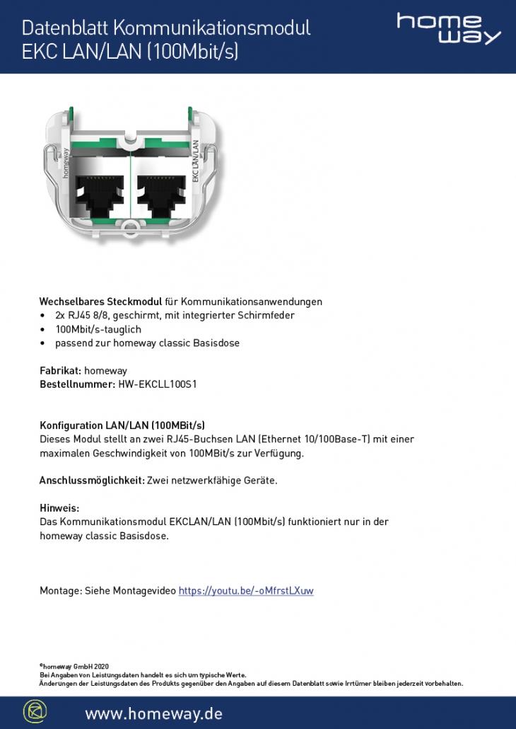 Datenblatt EKC-LAN-LAN