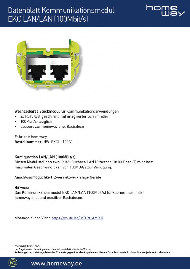 Datenblatt EKO-LAN-LAN