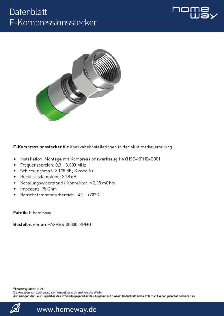 Datenblatt F-Kompressionsstecker