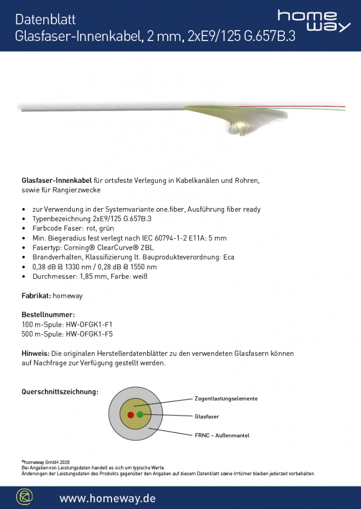 Datenblatt Glasfaserkabel one.fiber