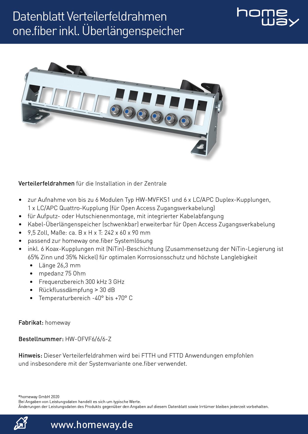 Datenblatt HW-OFVF6-6-6-Z