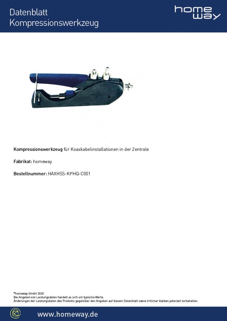 Datenblatt Kompressionswerkzeug