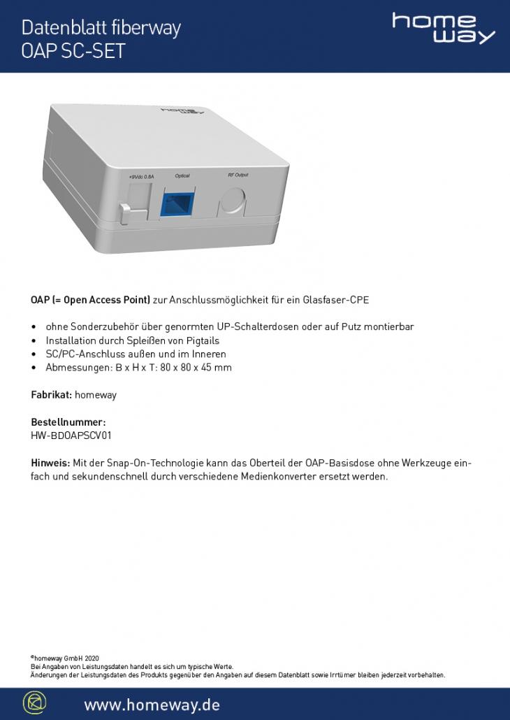 Datenblatt OAP SC-SET