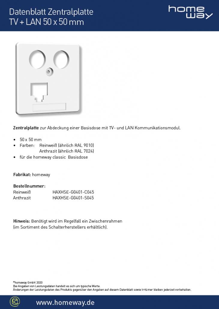 Datenblatt ZP 50x50 TV-LAN