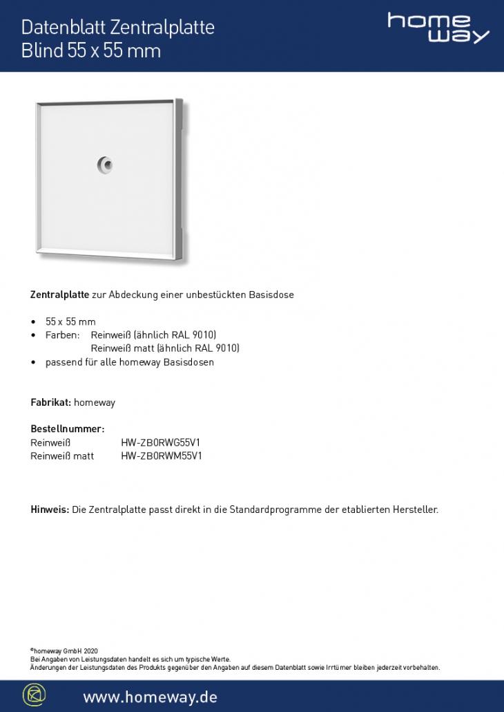 Datenblatt ZP 55x55 Blind