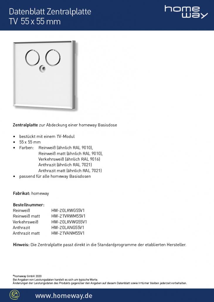 Datenblatt ZP 55x55 TV