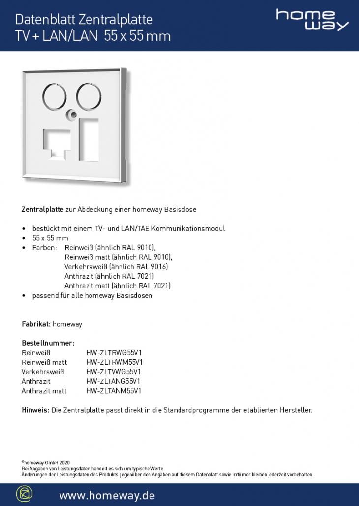 Datenblatt ZP 55x55 TV-LAN-TAE