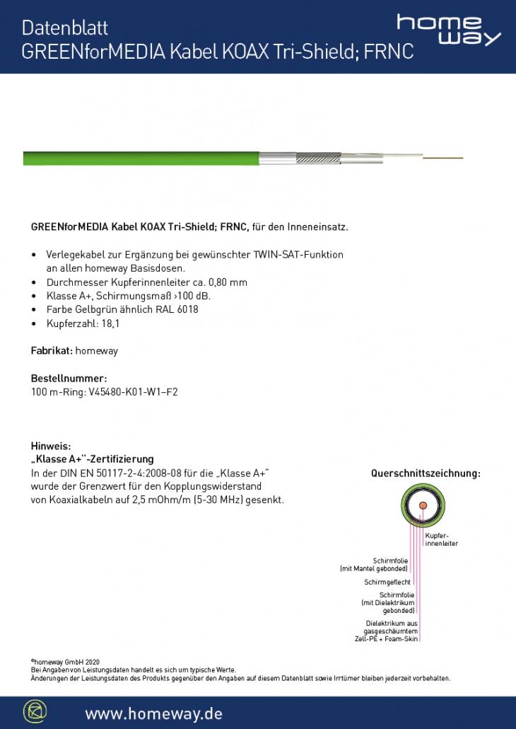 Datenblatt GREENforMEDIA Koax