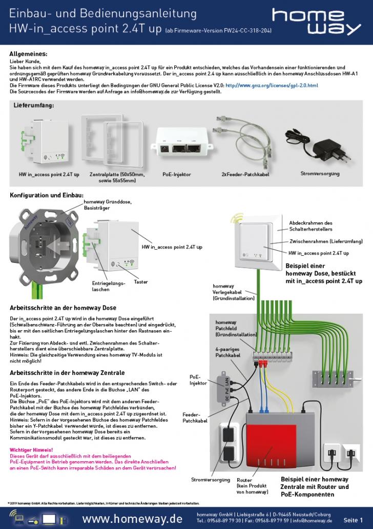 Einbau- und Bedienungsanleitung Access Point 2.4T up