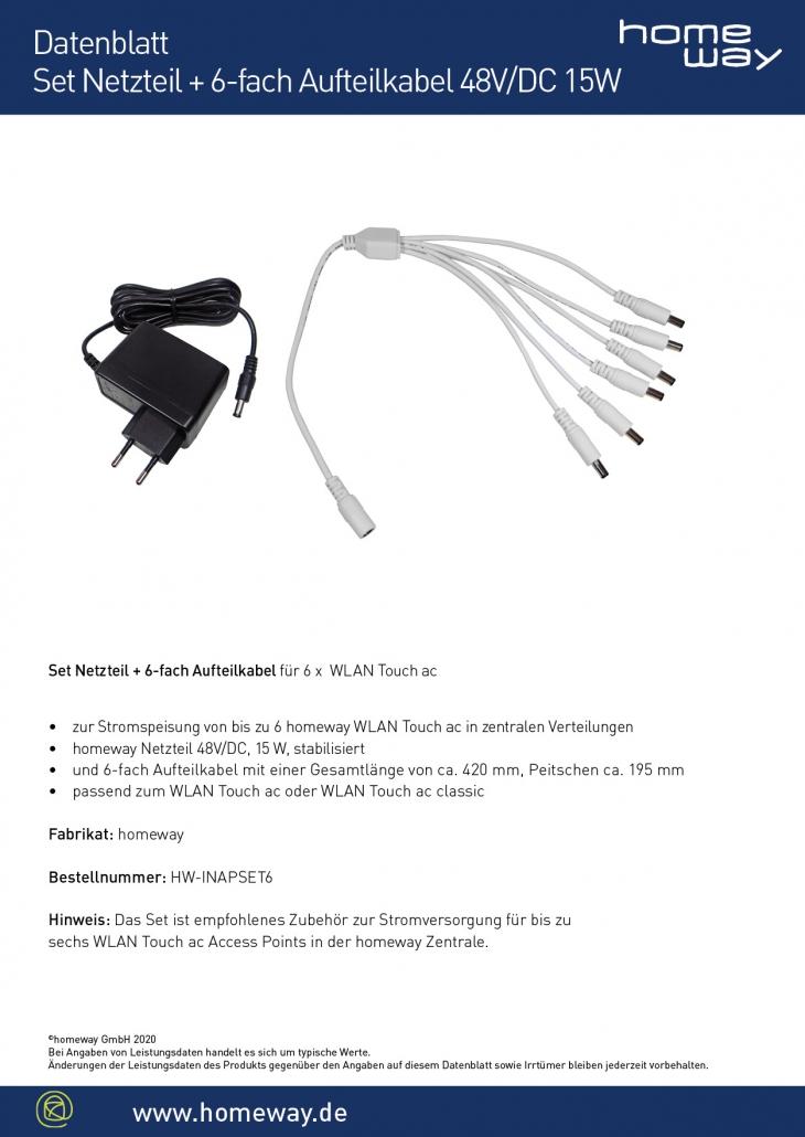 Datenblatt WLAn Set Strom 6er