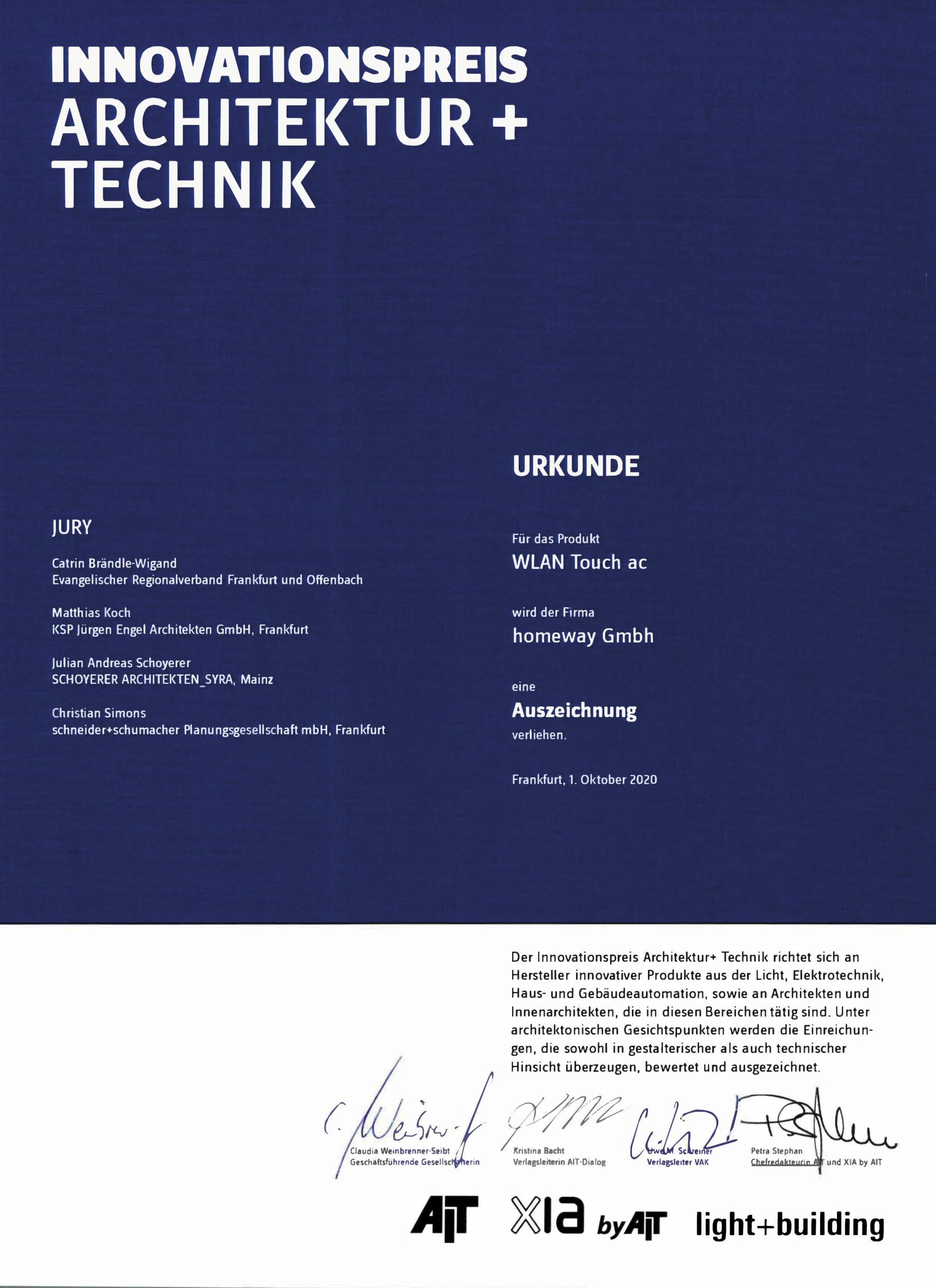 AIT-Urkunde-WLAN-Touch-ac