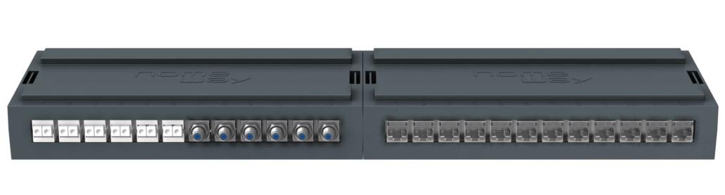 homeBox NX12 aneinandergereiht bestückt